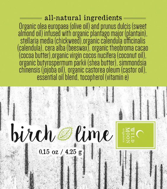 Birch+Lime Lip Balm Wild Moon Organics